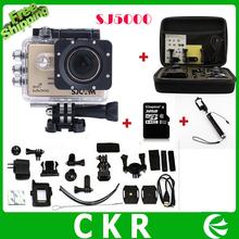 SJ5000 Спорт Действий Камеры Wi-Fi Full HD 1080 P 30fps 2.0 ЖК-ДИСПЛЕЙ Камеры Рекордер 30 М Дайвинг Водонепроницаемая + 32 ГБ TF Карта + Монопод + сумка