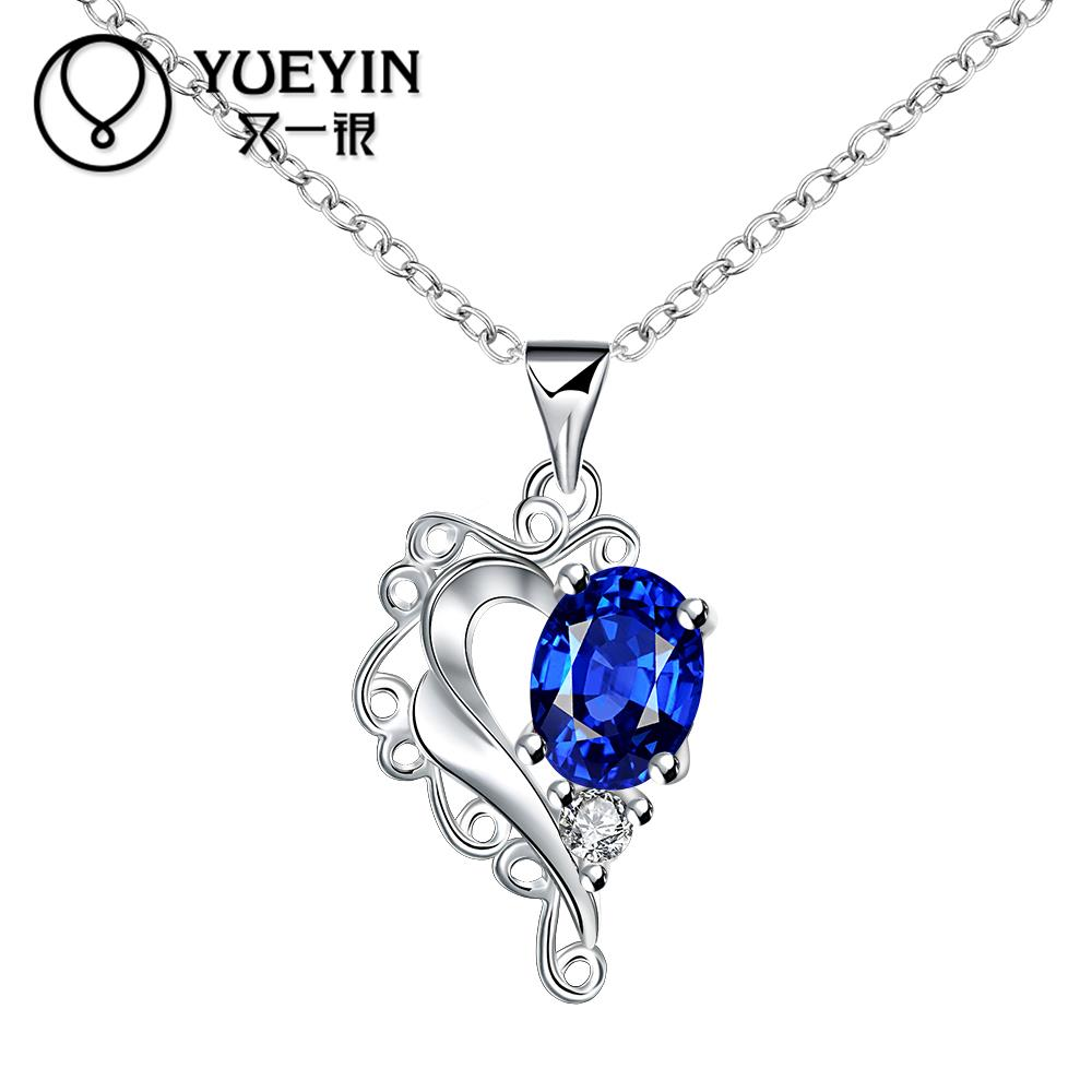 High quality new style heart design fashion jewelry free shopping silver plating necklace n063a Design and style fashion jewelry