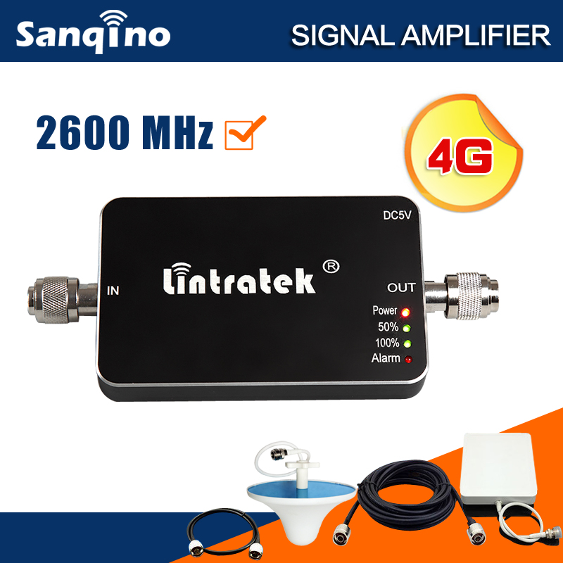 New 4G Repeater 2600 LTE 4G Booster Antenna 65dB Cell Booster Mini Size 4G Cellphone Signal Booster Full Kit F20(China (Mainland))