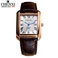 New Famous Brand CHENXI Men s watch Black Brown Series Leather Strap Simple And Elegant Square