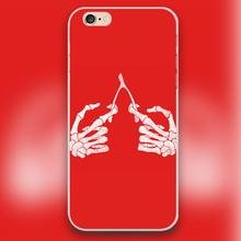 human skeleton hands Design black skin case cover cell mobile phone cases for Apple iphone 4 4s 5 5c 5s 6 6s 6plus hard shell