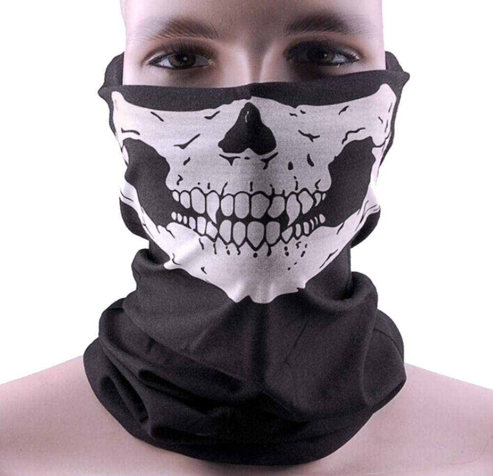 Fast Delivery Motorcycle SKULL Ghost Face Windproof Mask Outdoor Sports Warm Ski Caps Bicyle Bike Balaclavas Scarf(China (Mainland))