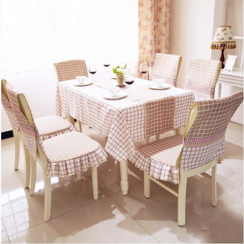 Classic England Style Tablecloth Coffee Cotton Fabric