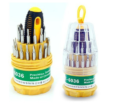 31 sets of multi purpose maintenance necessary screwdriver set disassemble laptop mobile phone repair tools