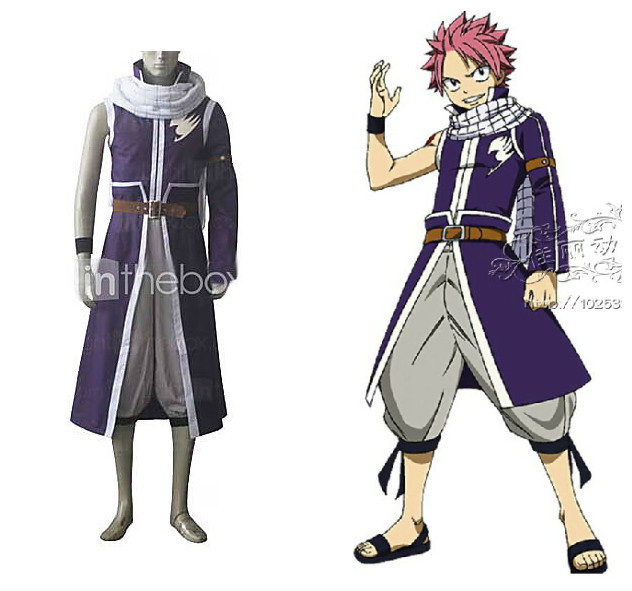 fairy tail natsu dragneel cosplay costume 2nd versionin