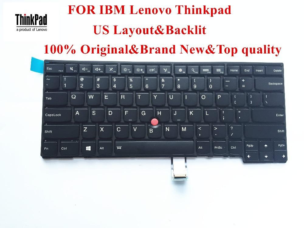 100% Brand New Original laptop Keyboard for lenovo Thinkpad Edge E431 E440 L440 Keyboard US Layout with Backlit FRU 04X0101<br><br>Aliexpress
