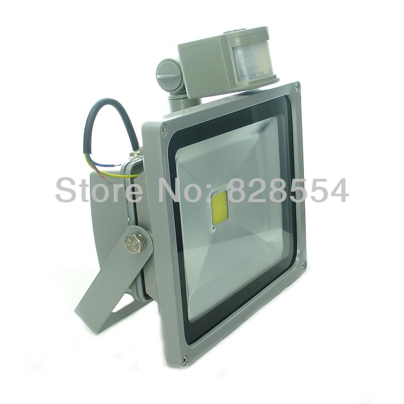 30w saving led pir motion sensor flood light warm cold white lamps. Black Bedroom Furniture Sets. Home Design Ideas