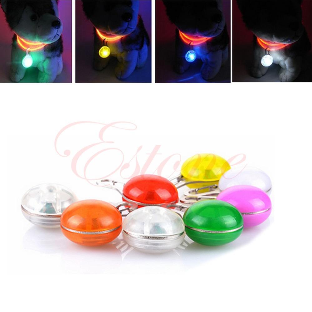 Free Shipping New Arrival Pet Puppy LED Flashing Safety Night Light Dog Circular Blinker Pendant(China (Mainland))