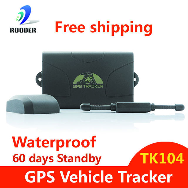 Waterproof Vehicle Car GPS GSM Tracker 104 with Built-in Battery powerful magnet Alarm Anti-theft Rastreador Free Shipping