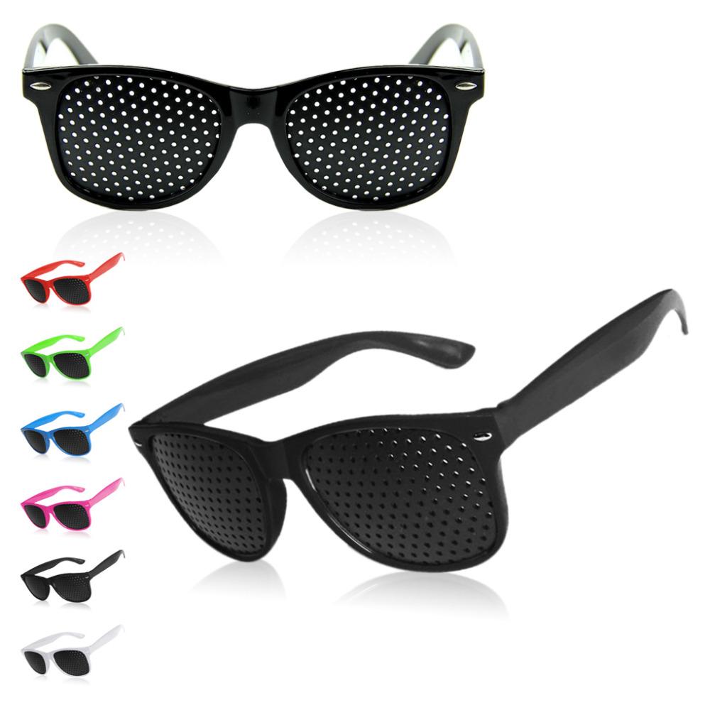 6 Colors 2016 Fashion Unisex Pinhole Glasses Pinhole Glasses Glasses Correct Pseudomyopia Correct Shortsightedness Oculos(China (Mainland))