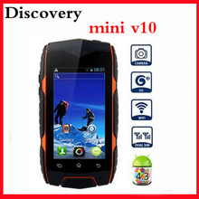 New android phone MTK6572 1.2ghz 2.5 Screen discovery v10 Mini Dual SIM Car wcdma mini jeep z6 mini mann zug3 cell phones