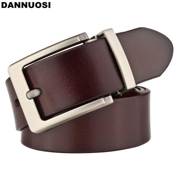 [DANNUOSI]Genuine Men Belt 100% pure high quality brand men's leather belt belt wild men's dress waistband(China (Mainland))