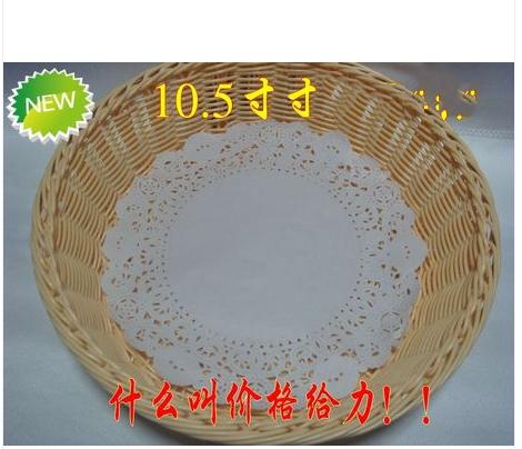 180pcs, 10.5'' White Lace Paper Doily Nice Flower Cutting Cake Biscuit Padding Doyley,Free shipping(China (Mainland))