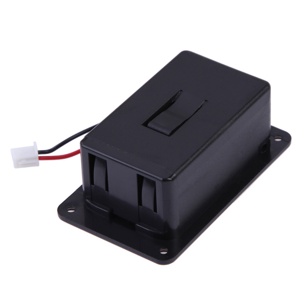 FE5# 1pc 9V Battery Box Case Cover Holders For Guitar Bass Pickup Black Free Shipping(China (Mainland))