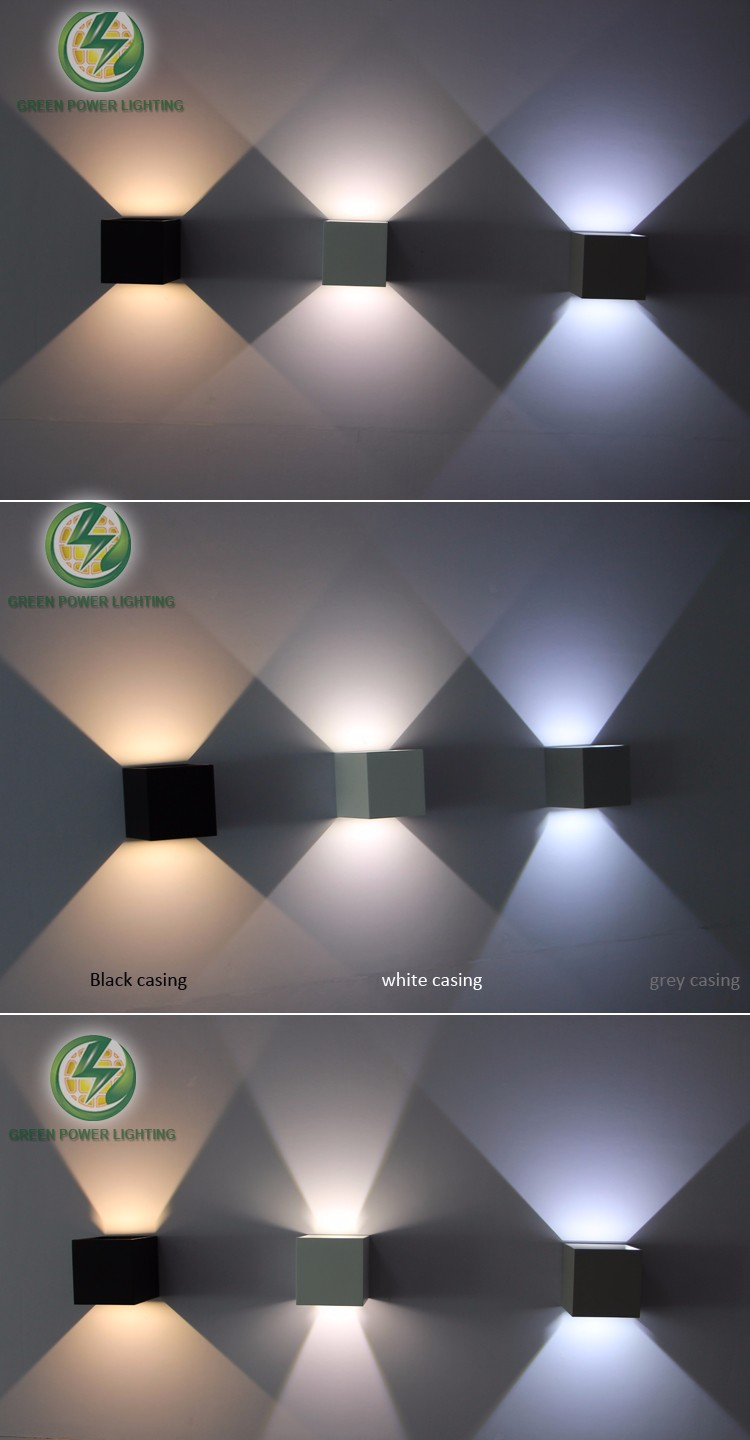 IP65 adjustable surface mounted outdoor cube LED wall Light,  Led outdoor wall lamp ,Up and Down wall sconce