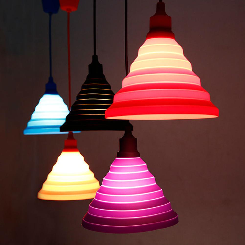 E27 220V Modern Simple Colorful Silicone Pendant Lights pendente de teto Silicone Vintage Edison lustre rope Pendant lamp light(China (Mainland))