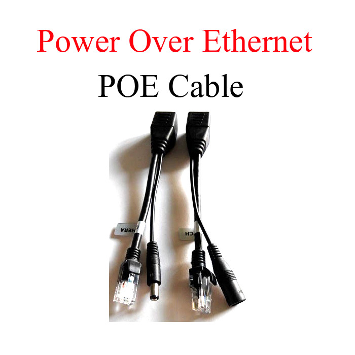 Free shipping PoE Cable,PoE splitter,injector,Power Over Ethernet PoE Cable switch PoE splitter Cable Adapter Kit for IP camera(China (Mainland))
