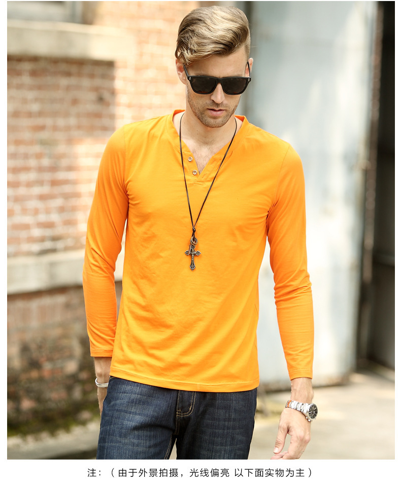 Mens long sleeve yellow t shirt is shirt for Mens long sleeve t shirts sale