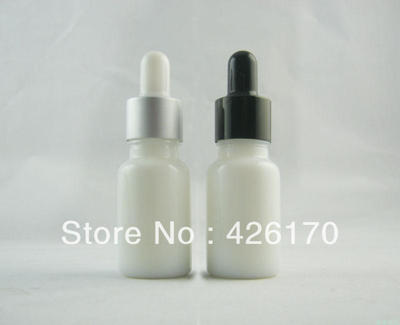 High-grade 10ml White China Essential Oil Bottle Refillable Bottle Perfume Glass with Alumina Dropper(China (Mainland))