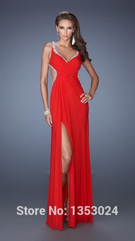 vestidos de noche 2016 rojos