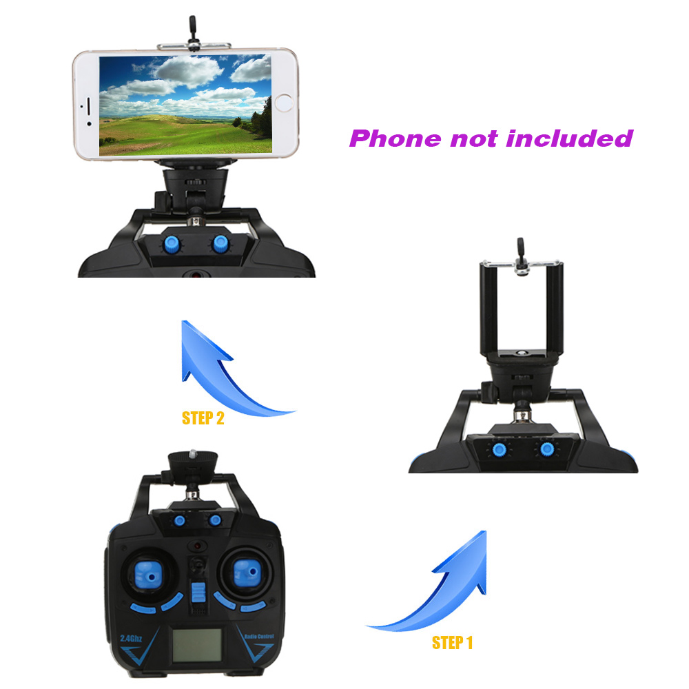 New Original JJRC H26W 2.4G 4CH 6 Axis Gyro RC Wifi FPV Quadcopter Real-time Transmission Drone with 2.0MP HD Camera VS X400-V2