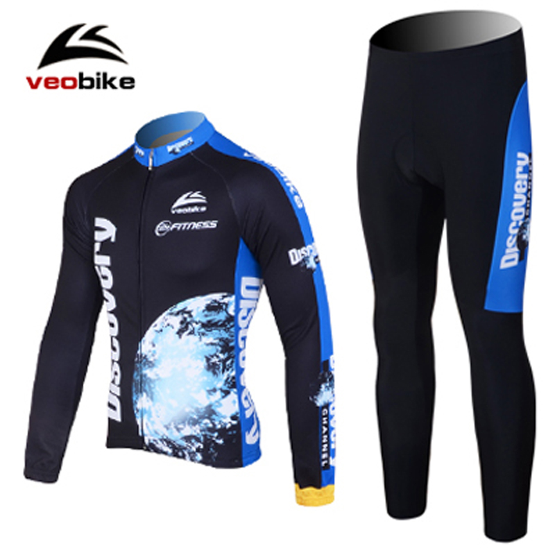 2014 Winter New Thermal Fleece Cycling Jerseys Long Sleeve Jersey Shirts+Long Pants Cycling Clothes Men Quick Dry Sportwear 4320