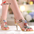 Rhinestone Women Pumps New Spring 2015 Diamond Sandals Genuine Leather Shoes High Heeled Party Wedding Shoe