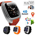 X01 WCDMA 3G Smart Watch Android Phone Relogios Invictas WIFI GPS Bluetooth MTK6572 Dual Core 4GB
