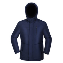 Electric heated coat free shipping navy blue winter Russia outdoor waterproof women heating down jacket for sports hunting(China (Mainland))