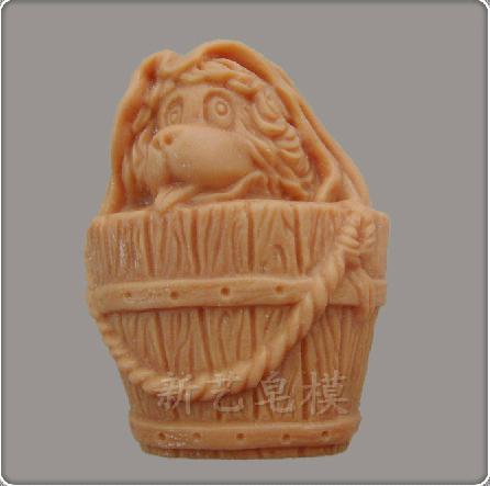 Free shipping !! shar pei dog shape silicone soap mold /cake mold /chocolate mold cooking tools(China (Mainland))