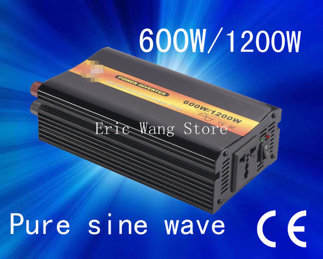 Best quality!!Pure sine wave 600w power inverter(DC to AC) dc 24 v ac 110v/220v (CP-P-600W)