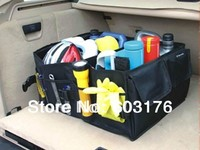 Free Shipping Car Boot Storage Bags Auto Folding Toolbox Organizer Box Supplies Locker  Portable Car Trunk Carrying Reticule