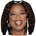 harajuku fashion sweatshirt 3D Oprah print hoodies men women O neck sweatshirts funny style pullovers