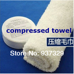 10pcs/lot Outdoor Camping Compress Towel Magic Towel Trip Travel Essential 100% cotton White 1-023(China (Mainland))