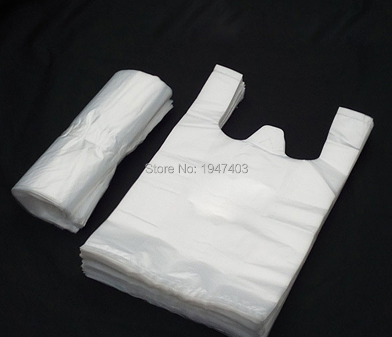 Large supermarket plastic bags for restaurants plastic t for Clear shirt packaging bags