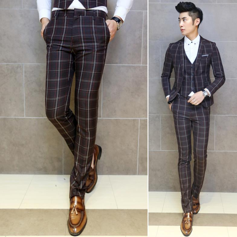 mens plaid dress pants - Pi Pants