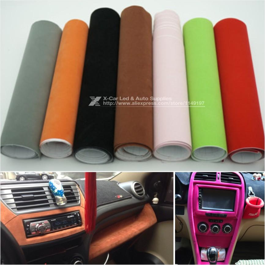 135 30cm 8 Colors Velvet Fabric Velvet Film Suede Film Car