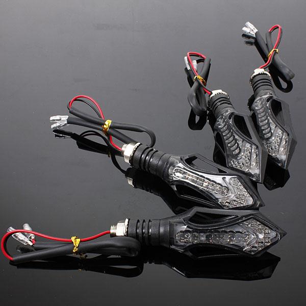 4pcs 2015 New Style Black LED UNIVERSAL MOTORCYCLE MOTORBIKE TURN SIGNAL INDICATORS LIGHT LAMP AMBER(China (Mainland))