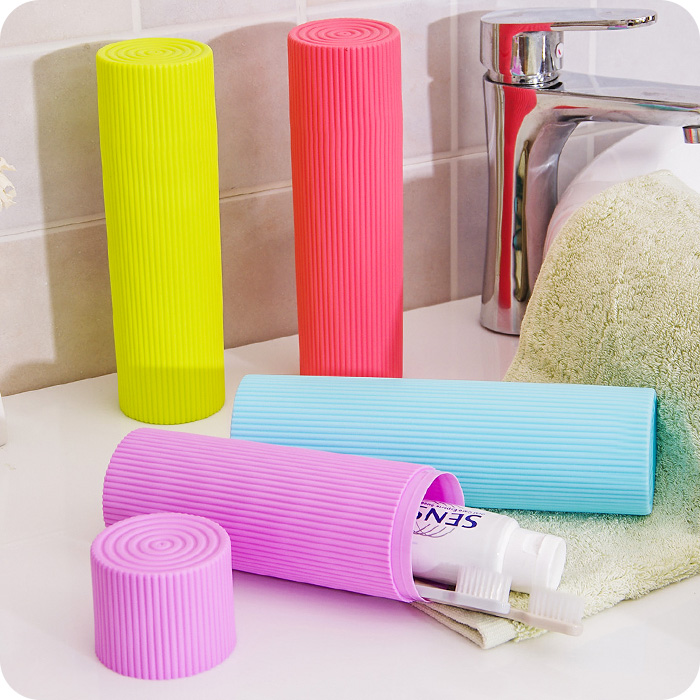 Buy travel camping bathroom toothbrush holder tube plastic cover protect case box at buyincoins - Range brosse a dent ...