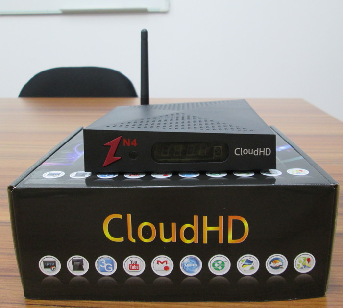 2015 NEWEST Factory Hotsale Cloud HD N4 DVB-S HD TV Satellite Receiver  Support Newcam WITHOUT IKS free shipping(China (Mainland))