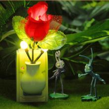 EU US Plug Electric Induction Dream Mushroom Fungus Lamp 3 LEDs Nightlight bulb home decor LED RGB breathing Night lights(China (Mainland))