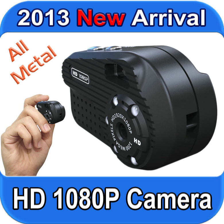 2013 New Arrival Mini Camera with HD 1080P Video Record 12M Photo shoot Nightvision All-Metal Candid Camera Free shipping(China (Mainland))