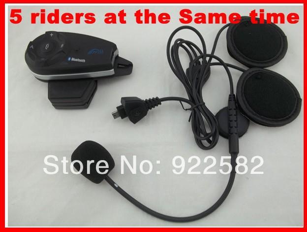 2014Newest2*5 riders up to1200M BT Motorcycle Motorbike Sport helmet Headset Wireless/Mobile Phone Bluetooth Helmet Communicator(China (Mainland))