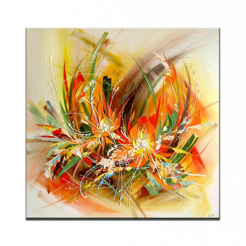 New 100 hand painted canvas oil painting high quality for What is canvas painting