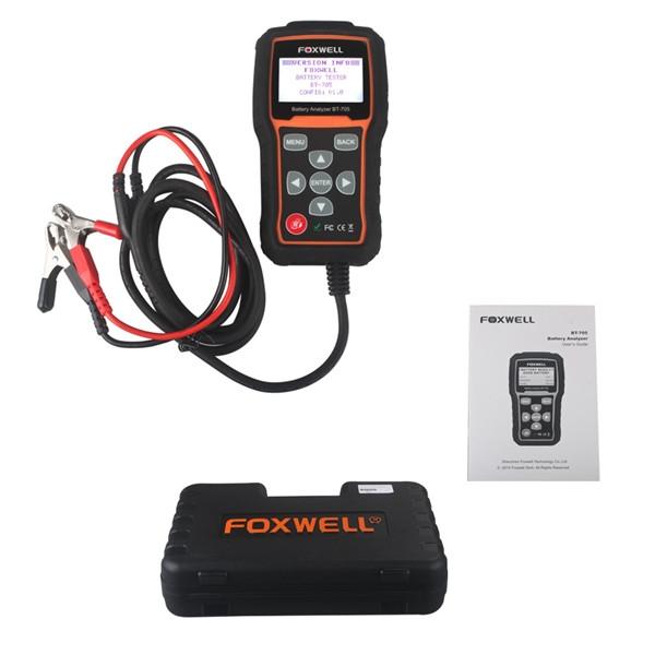2016 Foxwell BT-705 Battery Analyzer Test 12V & 24V Regular Flooded AGM GEL Type Battery Tester(China (Mainland))