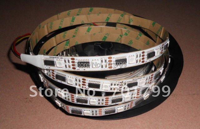 5m led digital strip,DC5V input,ws2801 IC;36pcs IC and 36pcs 5050 SMD RGB each meter;non-waterproof