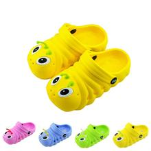 Baby Shoes New Arrival Kids Slodes EVA Cute Cartoon Caterpillars Pattern Breathable Shoes Baby Boy Girl Beach Wear FreeShipping(China (Mainland))