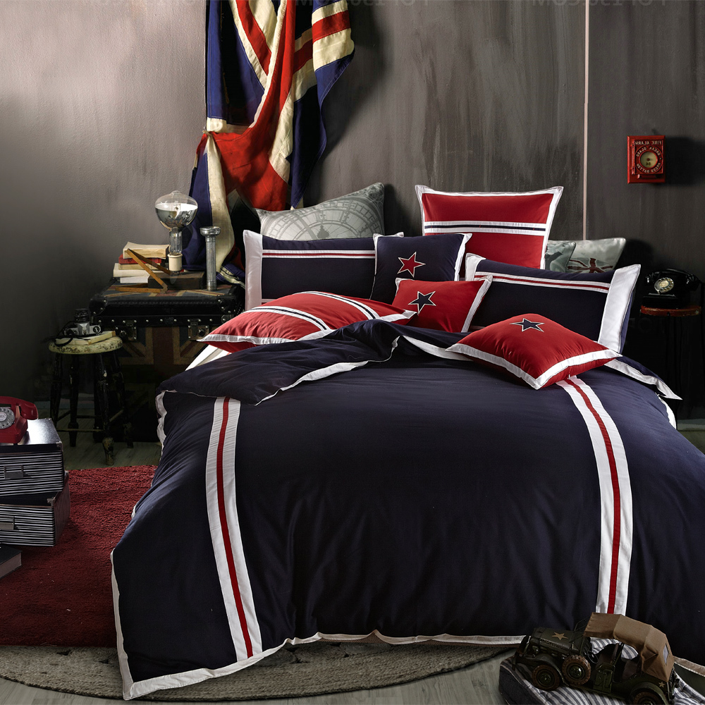Boys Sports Bedding Boys Plain Sports Blue Red