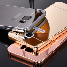 Luxury Aluminum Metal Case For Samsung Galaxy Note 5 Acrylic Hard Back Cover For Samsung Note 5 Accessories Mobile Phone Bags