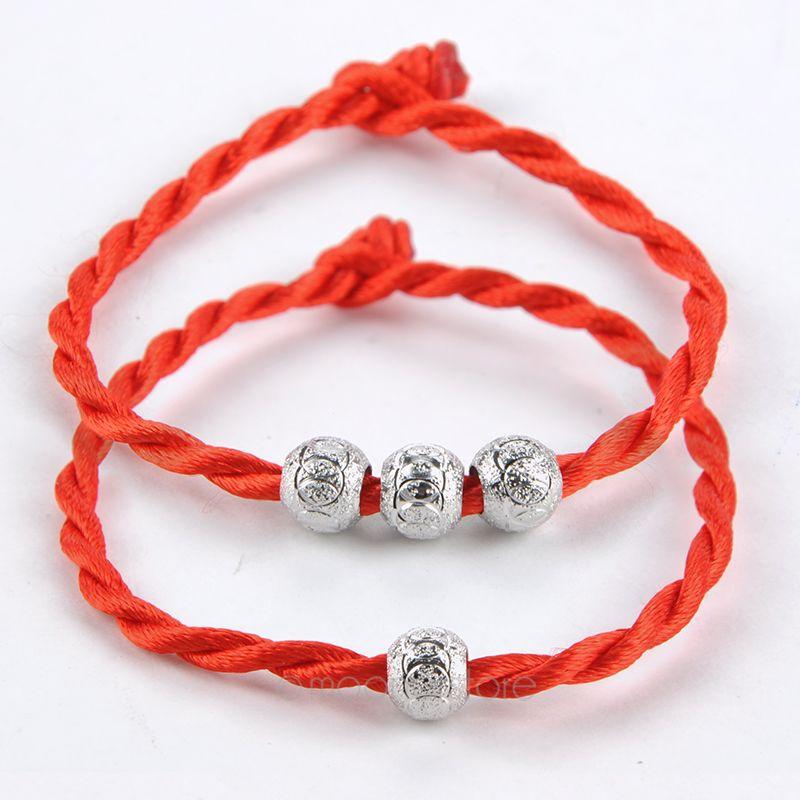 2014 Hot Sale Jewelry Women's Stylish Lucky Ball Bead Red Rope Line Bracelet Red Cord Cuff Bangle Hand Chain 25JMPJ233#M6(China (Mainland))